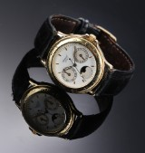 Chopard 'Classique'. Men's watch, 18 kt. gold, with triple calendar, 1990s