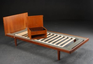 getama seng Hans J. Wegner. Seng af teak, Getama (2) | Lauritz.com getama seng