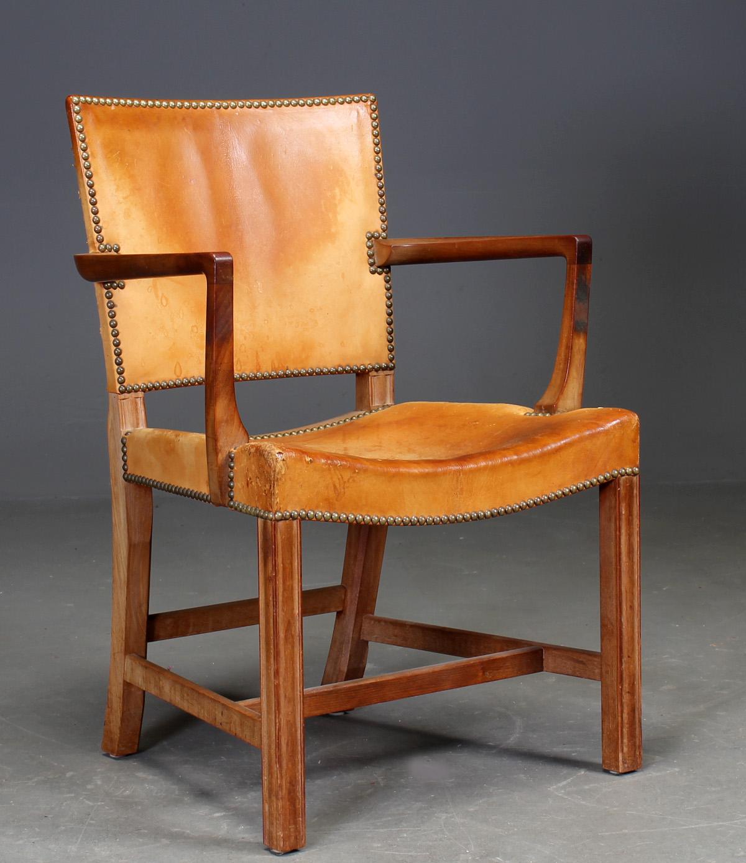 Rud Rasmussen Kaare Klint. Armstol `den røde stol