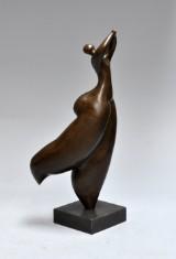 Broncefigur i form af dansende kvinde