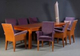 Armchairs Paramount by Philippe Starck for Driade with a dining table (9)