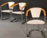 Drei Armlehnstühle mit Alcantara Bezug (3)