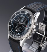 Vulcain 'Nautical Trophy'. Limited edition men's watch, steel, with black dial - certificate 2012