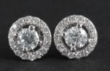 Earrings in 14k with brilliant cut diamonds 0.40ct