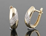 Diamond earrings in 14kt approx. 0.21ct