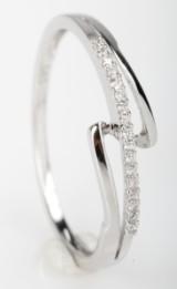 Brillantring fra Diamonds by Frisenholm. 14 kt. rhodineret guld, 0.05 ct.
