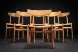 Hans J. Wegner. A set of six chairs, oak, model CH-23 (6)