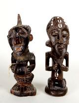 Songye, statyetter, 2 st