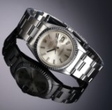 Rolex 'Datejust' men's watch, steel, silver-coloured dial, c. 1965