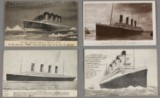 Four post cards wtih Titanic, e.g. unused card with autograph of Edith Heismann, married name Brown, etc (4)