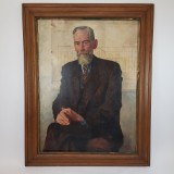 Georg Poppe (1883-1963), portrait of an architect, oil/canvas 1942