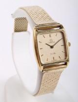 Omega De- Ville damearmbåndsur. 14 karat guld. Vægt ca. 31 gram.