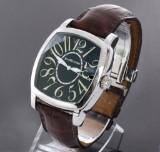 JeanRichard 'TV Screen'. Men's watch, steel, with black dial
