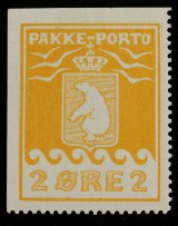 Grønland, P.P. Afa:5 Tryk 1, pos.1. Pragteksemplar att.:Møller/Lasse Nielsen.