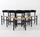 Børge Mogensen. Six chairs, model J-39 (6)