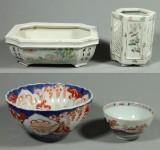 Samling porslin, Kina samt Japan, 3+1, 1700 samt 1800-tal (4)