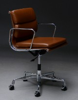 Charles Eames. Soft Pad office chair, model EA-217, Full Leather