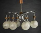 Lampe, Deckenleuchte, Metall und Glas
