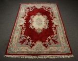 Indisk tæppe, 278 x 184 cm.