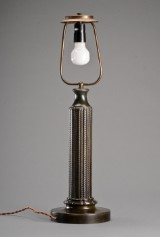 Just Andersen. Bordlampe af diskometal model 1858.