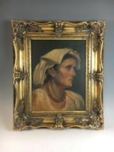 Unbekannter Künstler, Öl auf Leinwand, 'Portrait einer Bäuerin'