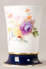 Meissen Vase mit Blumenmalerei,