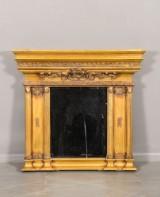 Spegel i empir stil med fassett slipat glas