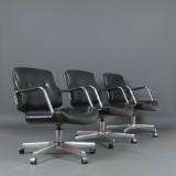 P. Fabricius & J. Kastholm, sæt lounge lænestole, model FK 84 fremstillet hos Kill (3)