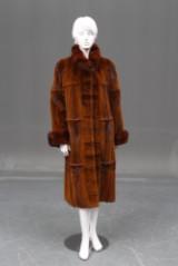 Saga mink. Clipped mink coat, size approx. 42-44