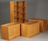 Dansk møbelproducent. Reolsystem af egetræ (4)