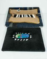 Bernd-Michael Koll 1942 - 2010, Två skulpturala tavlor i textil på träram (2)