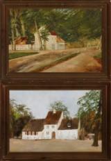 To partier fra Peter Lieps hus i Dyrehaven, olie på lærred (2)