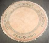 Teppich Nepal, Hochlandschurwolle, Reliefschnitt, rund