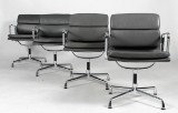 Charles Eames. Soft Pad armchairs, Model EA-208, leather (4)