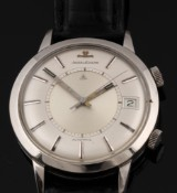Jaeger-leCoultre 'Memovox'. Vintage men's watch, steel, with alarm function, c. 1960
