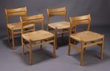Børge Mogensen. Spisestole, egetræ (4)