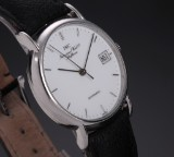 IWC 'Portofino'. Men's watch, steel with white dial with date, 1990s