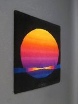 Ewald Kröner, kunstnertæppe fra 1970'erne, model Sonne / Sunrise
