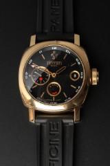 OFFICINE PANERAI, FERRARI GMT, a gentlemen's watch, rose gold