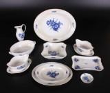 Kgl. Blå Blomst, serveringsdele, porcelæn (10)