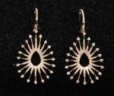 Paar Diamantohrstecker aus 14 kt. Gelbgold, 1.10 ct. (2)