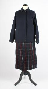 Burberry, jacka samt kjol, strl. ca 36