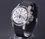 Fred 'Gladiateur Collector'. Men's chronograph, steel, with pale dial