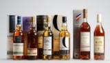 Samling af malt whisky og cognac (6)