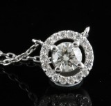 Pendant in 14k set with rilliant cut diamonds 0.50 ct
