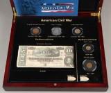 American Civil War - Mønt-og seddelsæt med bl.a. guldmønt