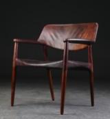 Ejnar Larsen and Aksel Bender Madsen. Lounge chair in rosewood