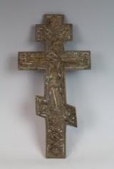 Orthodoxes Bronzekreuz, Russland, 19 Jh.