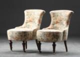 Par lænestole, bøg og møbelstof (2)