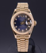 Vintage Rolex Oyster Perpetual Datejust, ladies' wristwatch in 18 kt. gold
